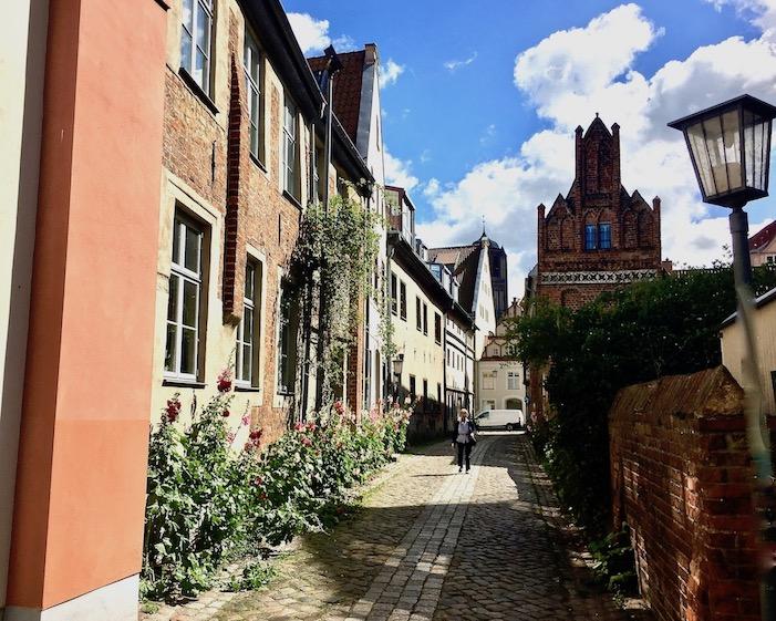 Stralsund Altstadtgasse UNESCO-Weltkulturerbe Stralsund Deutschland