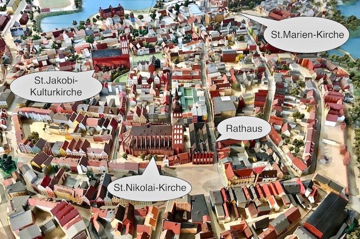 Stralsund Stadtplan in Miniaturansicht Stralsund Deutschland