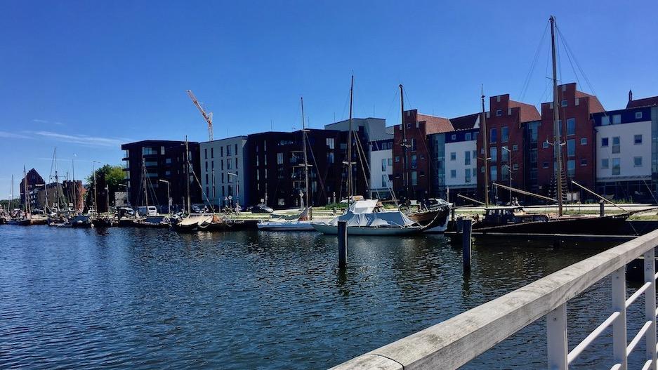 Hansestadt Greifswald Deutschland Blick über den Museumshafen