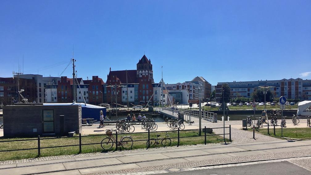 Hansestadt Greifswald Deutschland Blick über die Ryck