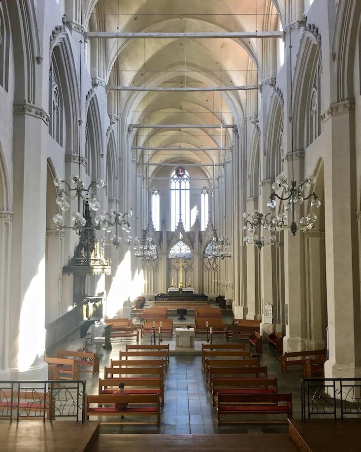 Hansestadt Greifswald Deutschland Dom St.Nikolai Mittelschiff