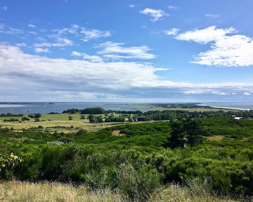 Hiddensee Blick vom Dornbusch über die Insel