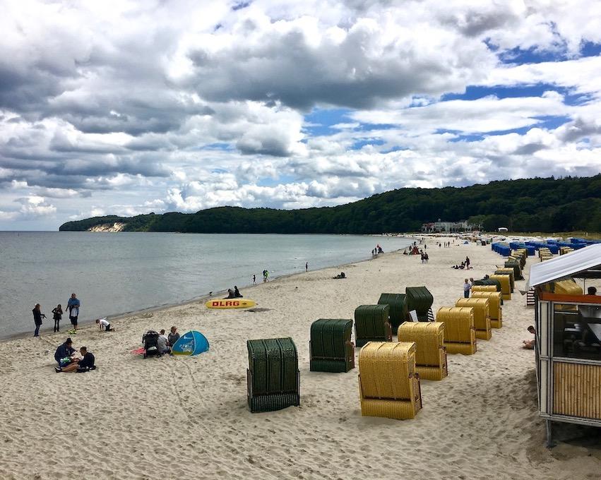 Insel Rügen Ostseebad Binz Strand mit Strandkörben