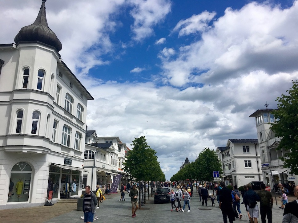 Insel Rügen Ostseebad Binz in der Fußgängerzone