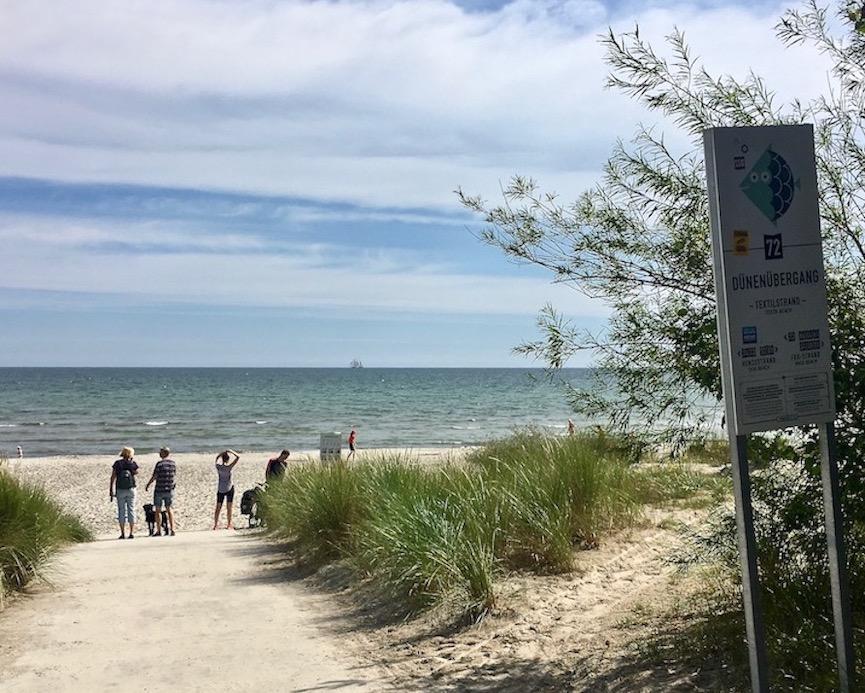 Insel Rügen Strandzugänge in Prora