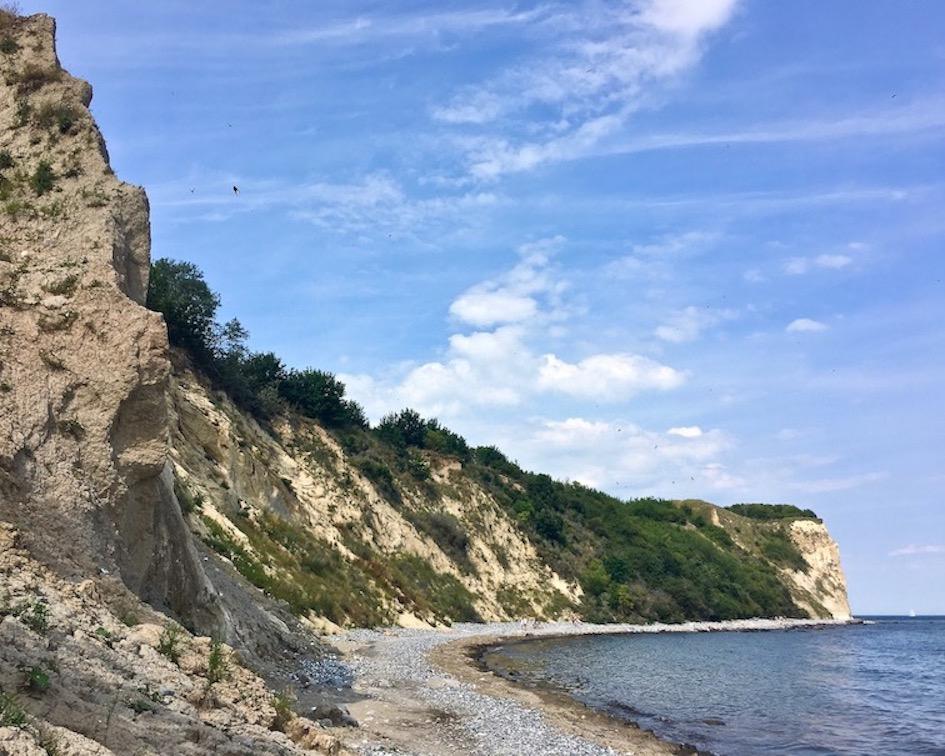 Kap Arkona Rügen Steilküste aus Kreide von Süden