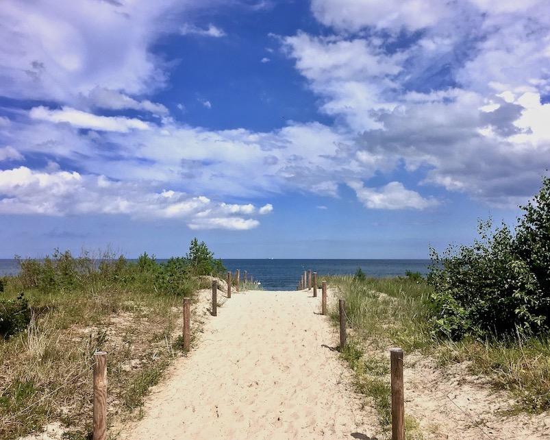 Ostseebad Sellin Auf der Strandpromenade am Südstrand