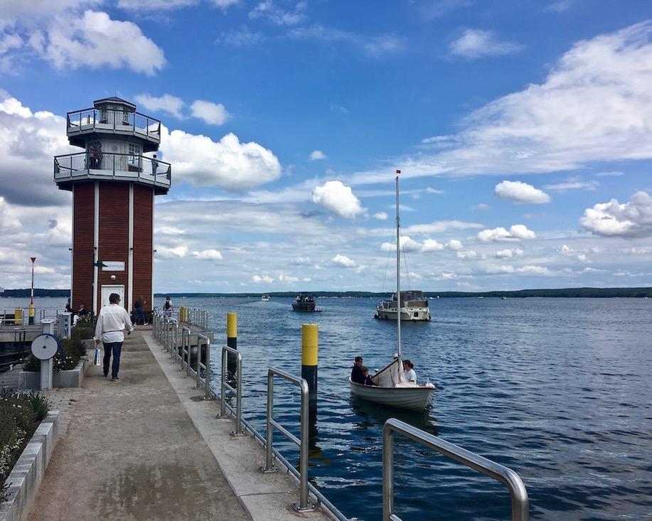 Plau am See Ausichtsplattform Leuchtturm Paul Mecklenburg-Vorpommern
