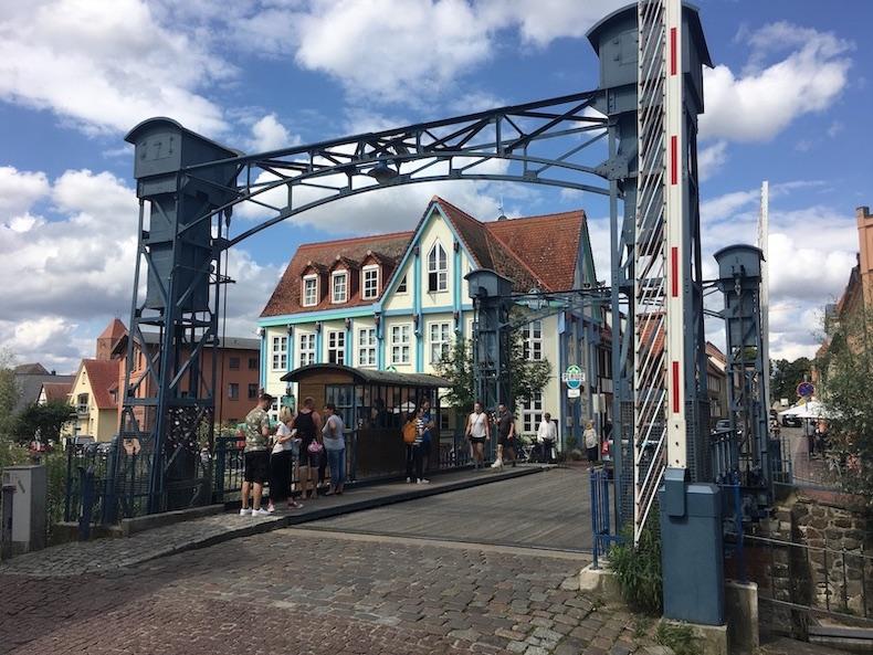 Plau am See Plauer-Hubbrücke Meclenburg-Vorpommern
