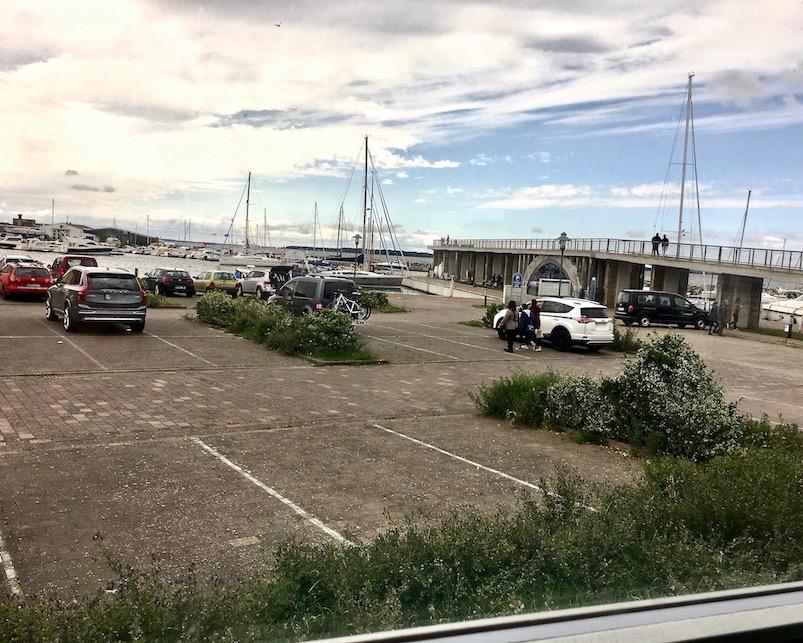 Wiek auf Rügen Blick zum Hafen von mole-on-tour