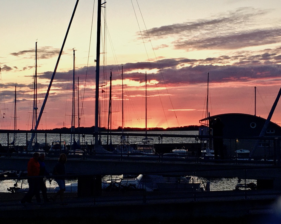 Wiek auf Rügen Marina Wiek Hafendorf Wiek Sonnenuntergang