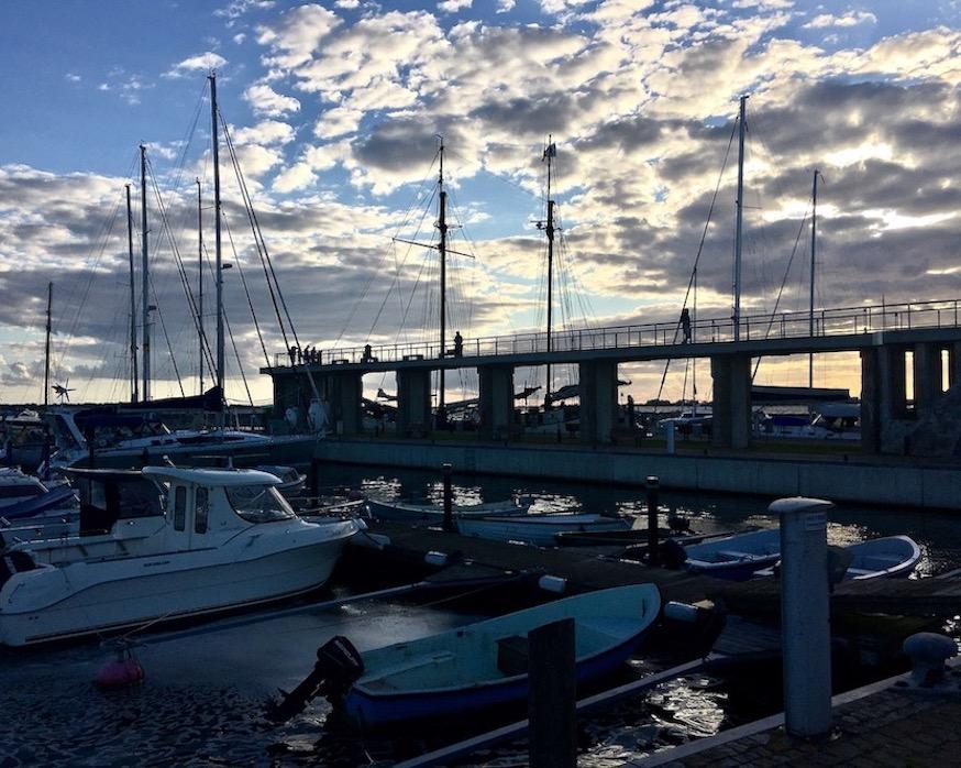 Wiek auf Rügen Wieker Kreidebrücke Abendstimmung