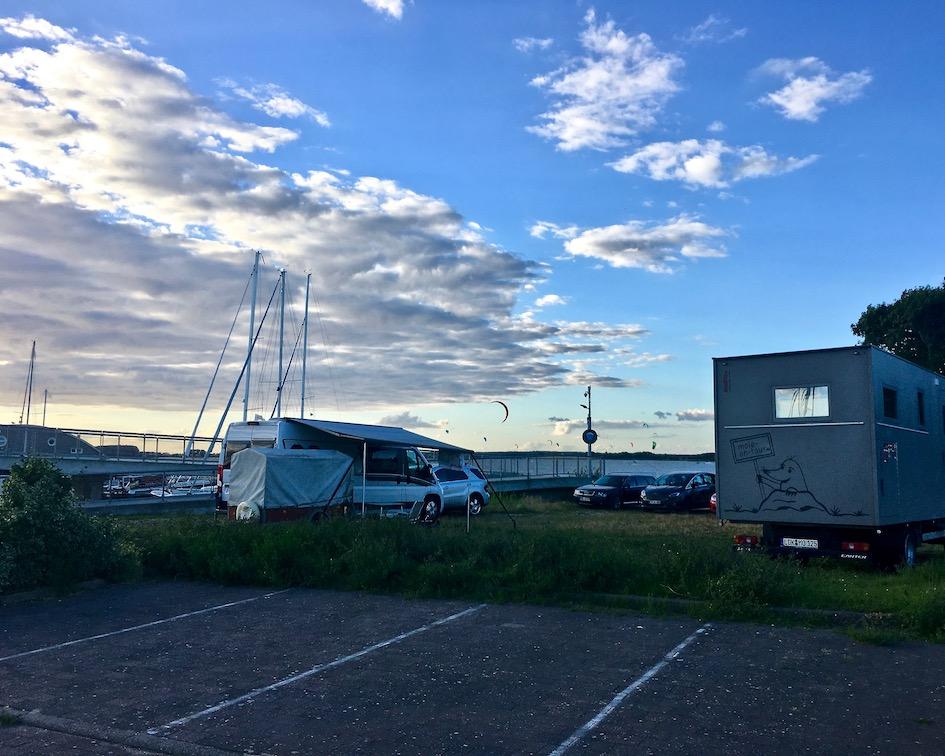 Wiek auf Rügen Wohnmobilstelllplatz an der Marina Wiek auf Rügen