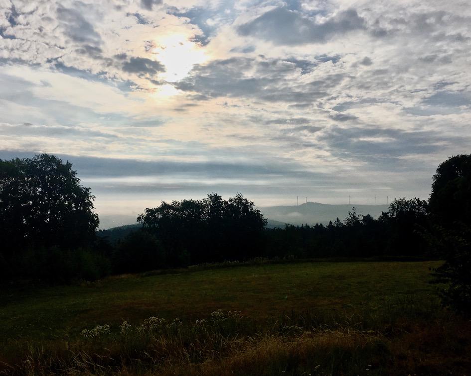 Blick vom Herzberg in Hessen