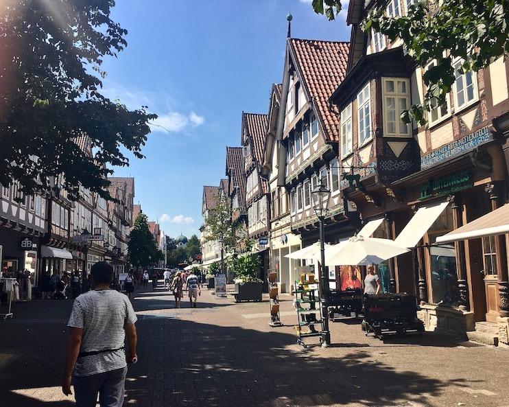 Fußgängerzone Historische Altstadt Celle Fachwerkhäuser Celle Niedersachsen