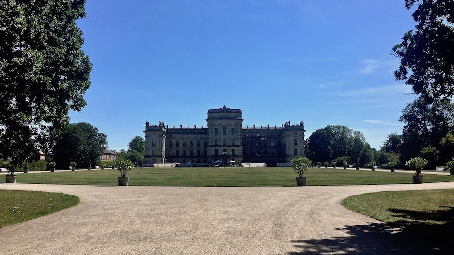Schloss Ludwigslust Gartenansicht Ludwigslust Mecklenburg-Vorpommern