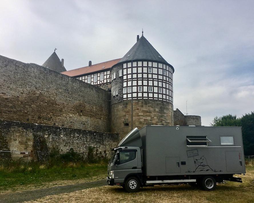 mole-on-tour an der Burg Herzberg in Hessen