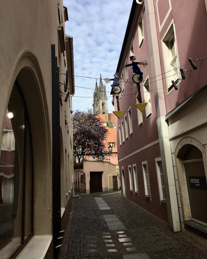 Meißen Sehenswürdigkeiten Altstadt Elbe Sachsen Meißen Sachsen Blick in die Lorenzgasse
