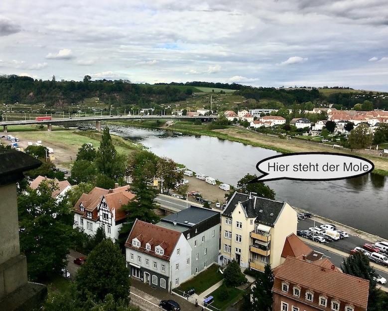 Meißen Sehenswürdigkeiten Altstadt Elbe Sachsen Meißen Sachsen Blick vom Burgberg