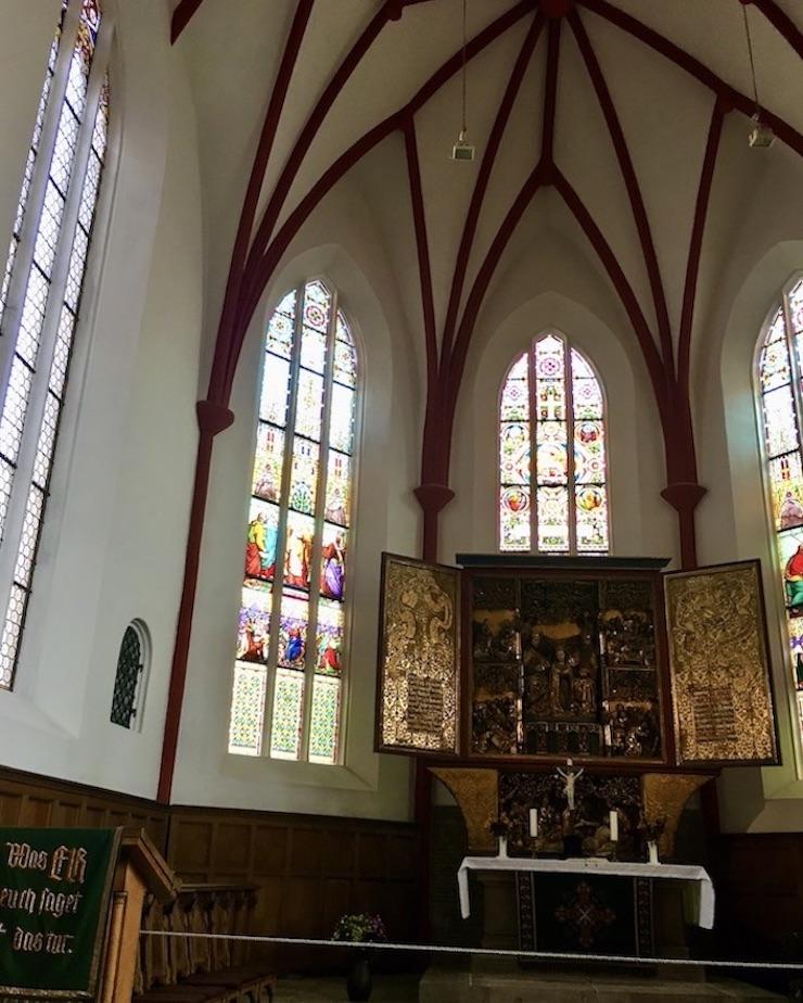 Meißen Sehenswürdigkeiten Altstadt Elbe Sachsen Meißen Sachsen Frauenkirche Chorraum mit Altar