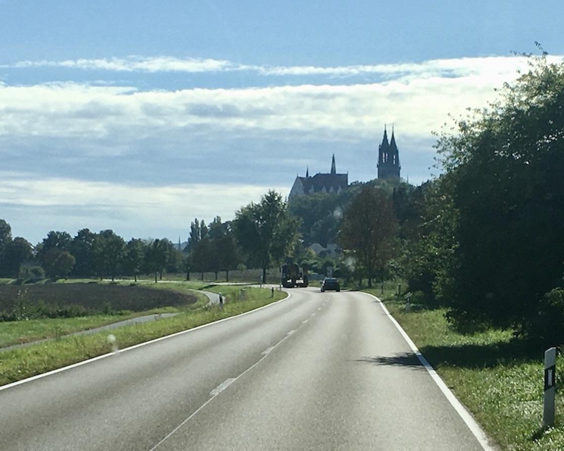 Meißen Sehenswürdigkeiten Altstadt Elbe Sachsen Meißen Sachsen Stadt-Silhouette von Norden