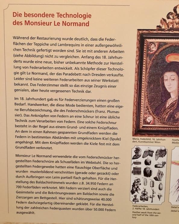 Moritzburger Federzimmer Beschreibung 2