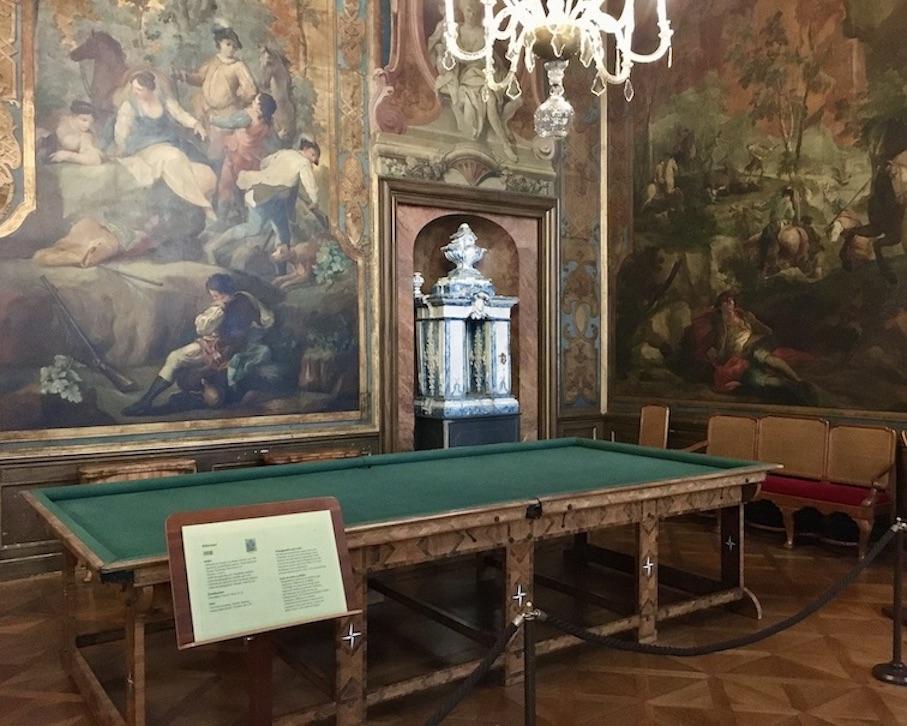 Schloss Moritzburg Sachsen Billardsaal