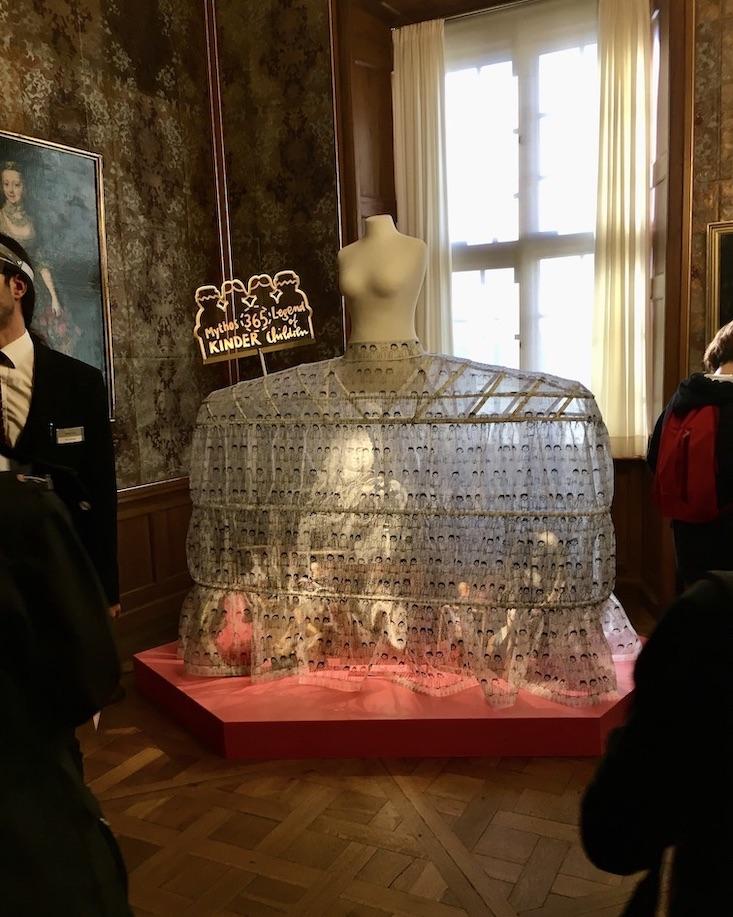 Schloss Moritzburg Sachsen Kleidung in Zeiten August des Starken