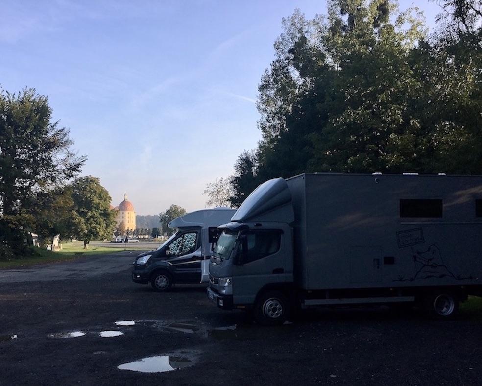 Schloss Moritzburg Sachsen Wohnmobil-Stellplatz mit mole-on-tour