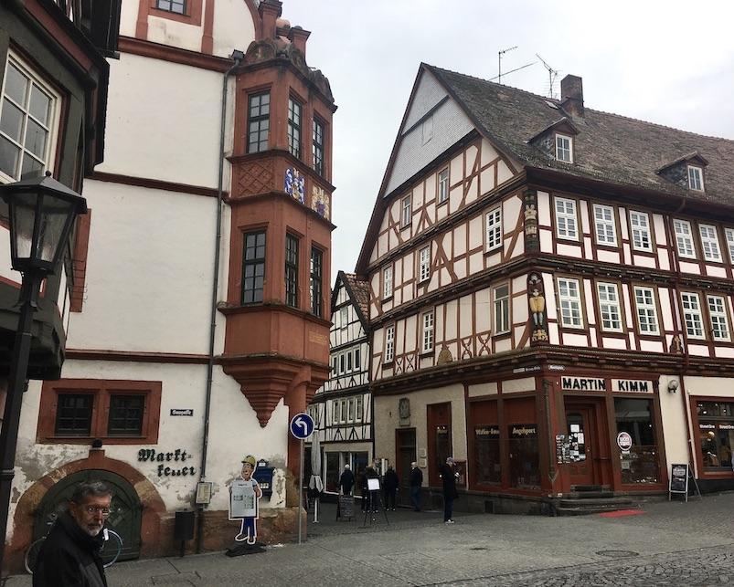 Alsfeld Hessen Am-Marktplatz Fachwerk-Stadt in Oberhessen