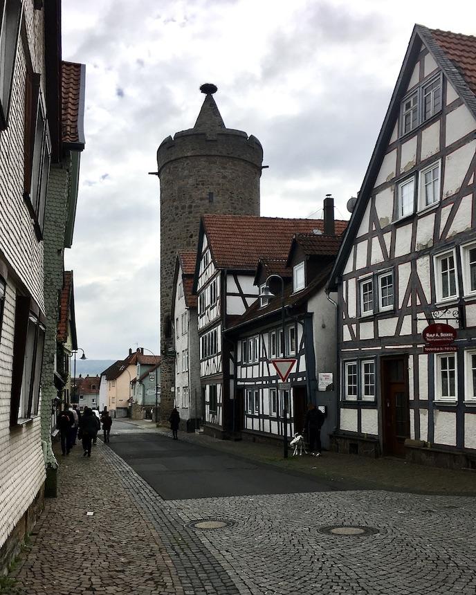 Alsfeld Hessen Leonhardsturm Rest der Stadtbefestigung Fachwerk-Stadt