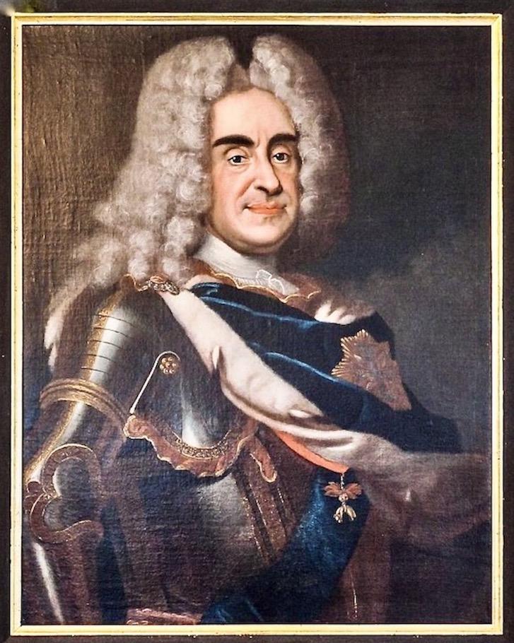 August der Starke von Sachsen Friedrich- August I. von Sachsen Portrait auf Burg Stolpen