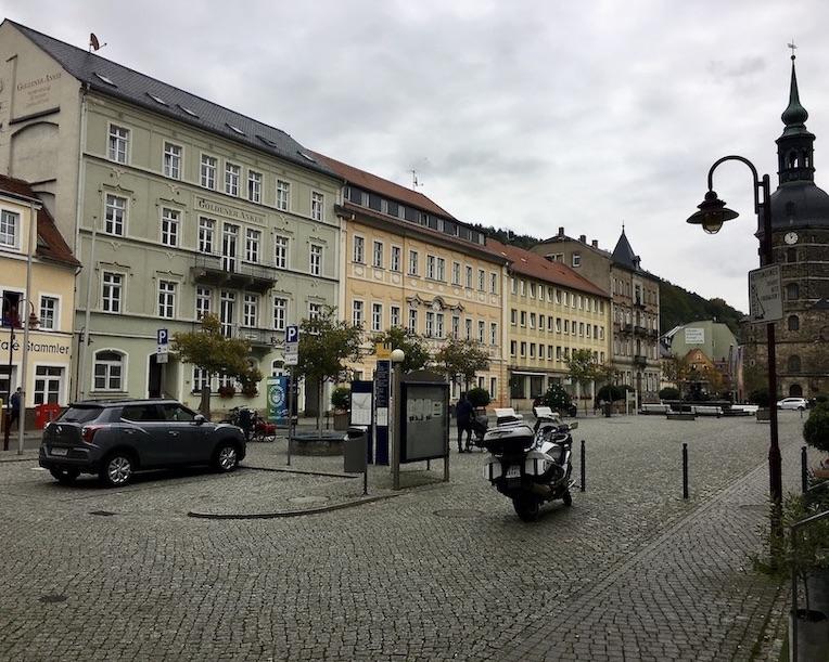 Bad Schandau Elbe Marktplatz St.Johannis-Kirche