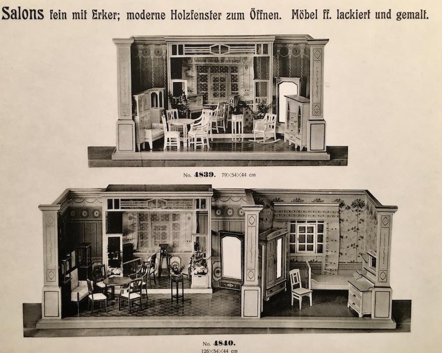 Erzgebirgisches-Spielzeugmuseum Katalogblatt Puppenküchen