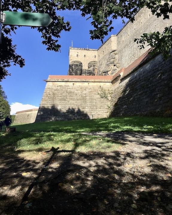 Festung Königstein Elbsandsteingebirge Sachsen der Weg nach oben