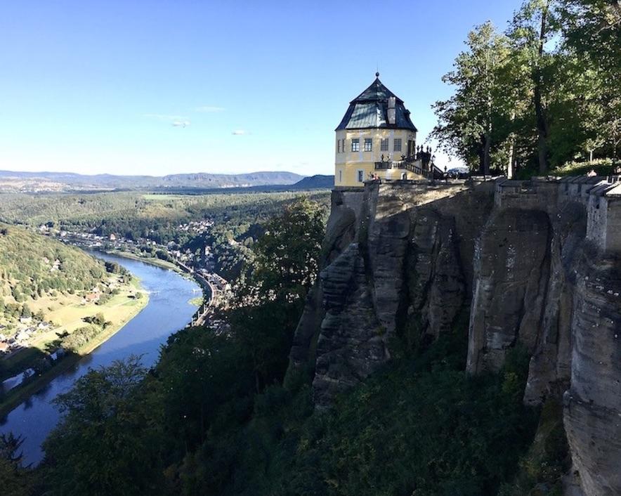 Festung Königstein Friedrichsburg über der Elbe Elbsandsteingebirge Sachsen