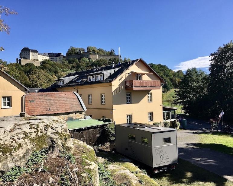 Festung Königstein Landgasthof Neue Schänke mole-on-tour Wohnmobil-Stellplatz