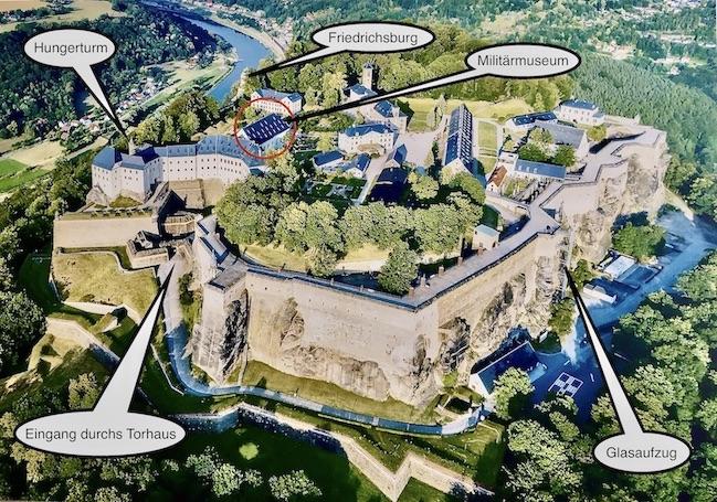 Festung Königstein Luftbild Elbsandsteingebirge Sachsen