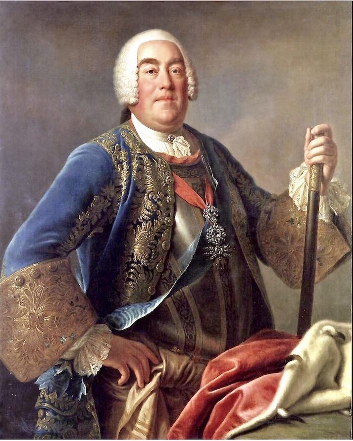 Friedrich August II. von Sachsen Portrait von Pietro-Antonio-Rotari
