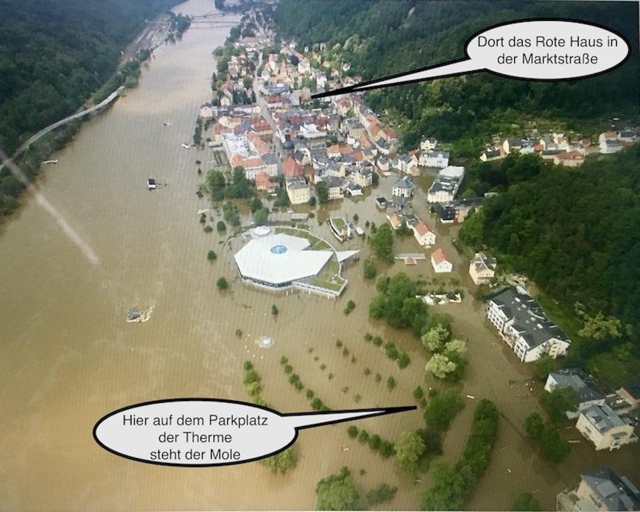 Hochwasser 2002 in Bad Schandau an der Elbe