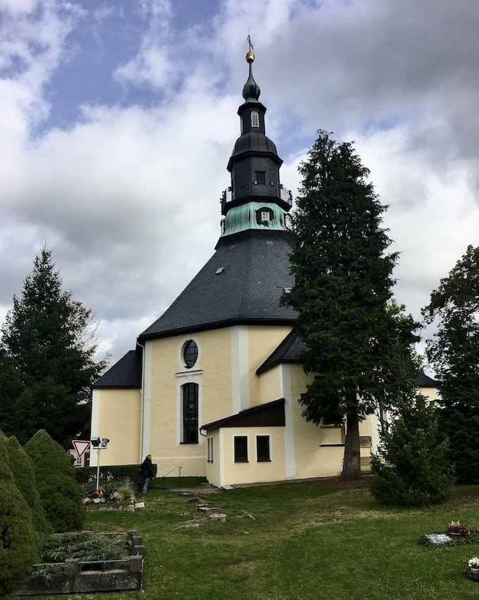 Kurort Seiffen Bergkirche Seiffen Erzgebirge