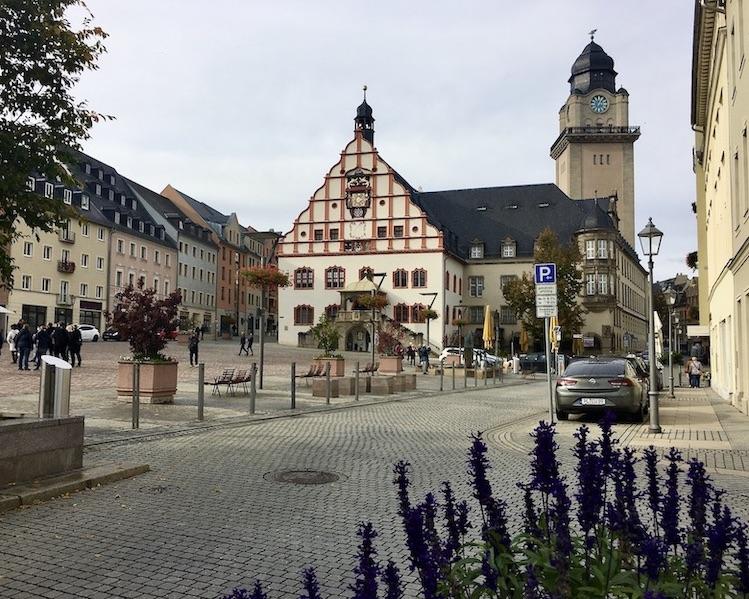 Plauen Vogtland Altmarkt mit Altem Rathaus
