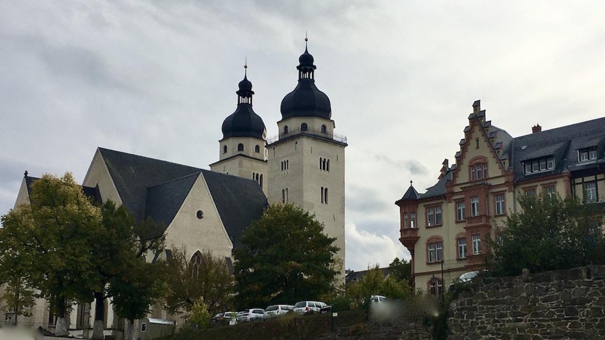 Plauen Vogtland Johanniskirche und Evangelisches-Pfarrhaus