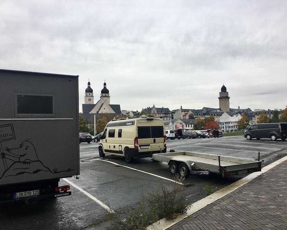 Plauen Vogtland Neustadtplatz Stellplatz für mole-on-tour