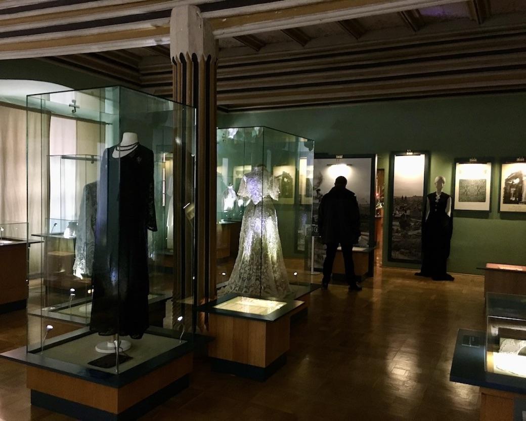 Plauen Vogtland Plauener-Spitzenmuseum Ausstellungsraum