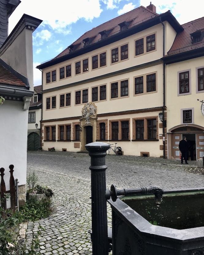 Rudolstadt Thüringen Eingang Handwerkerhof