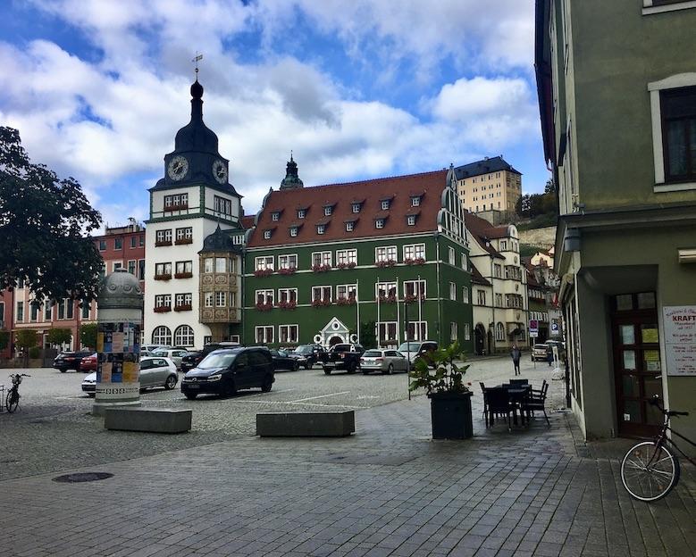 Rudolstadt Thüringen Marktplatz Neues Rathaus