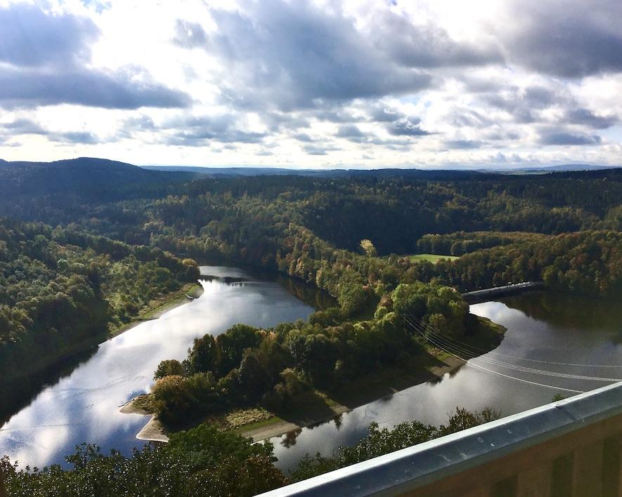 Saaleschleife Burgk Thüringen vom Saaleturm