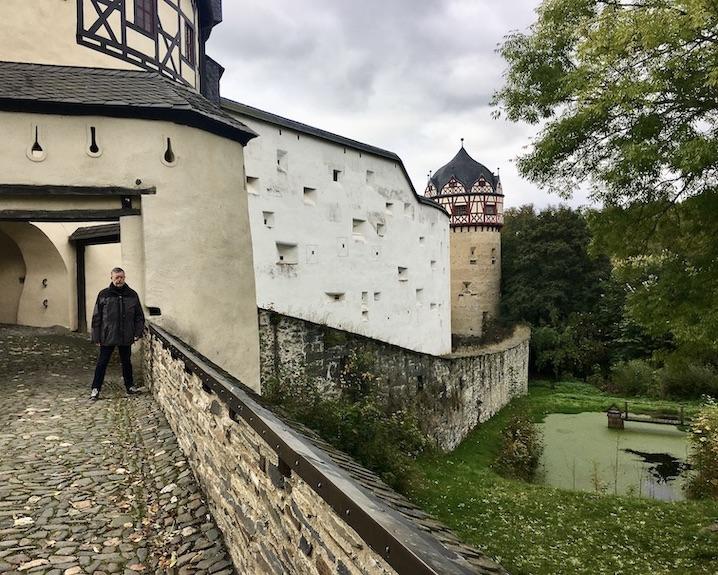 Schloss Burgk Thüringen Saale-Orla-Kreis Aufgang zur Vorburg