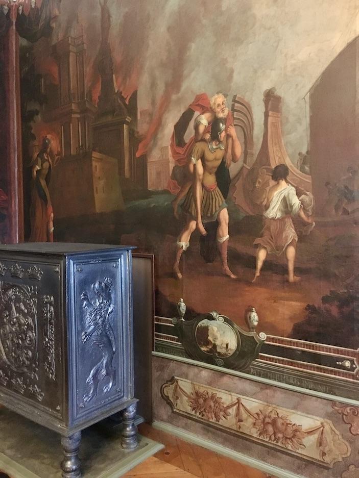 Schloss Burgk Thüringen Saale-Orla-Kreis Museum Kleiner Saal Wandmalerei